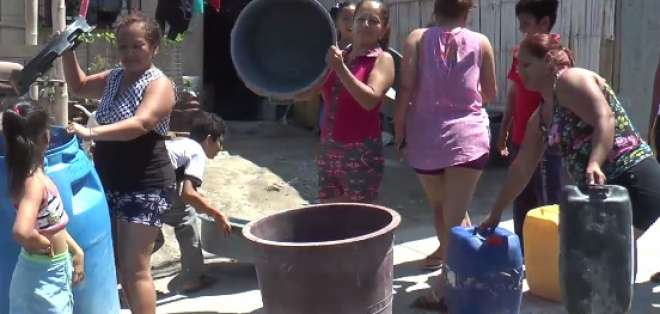 Habitantes de distintos sectores llevan cuatro días sin servicio de agua potable. Foto: captura de pantalla