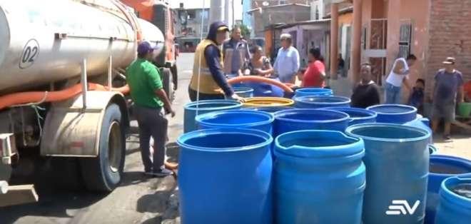 El desabastecimiento de agua en Manabí cumple 1 semana. Foto: Captura de pantalla