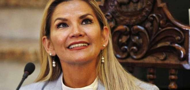 La presidenta interina de Bolivia, Jeanine Áñez. Foto: AP