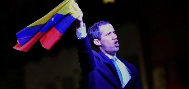 Guaidó se reunió en la tarde con la ministra de Exteriores de España. Foto: JAVIER SORIANO / AFP