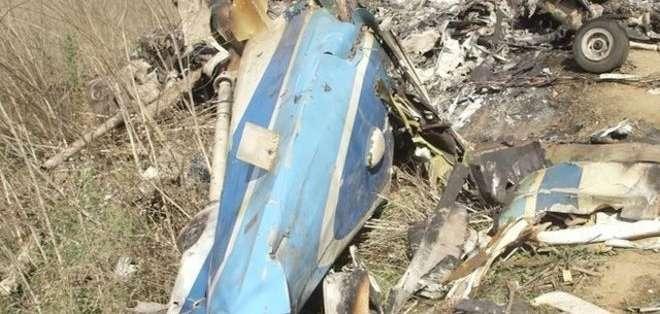 Así quedó el helicóptero en el que viajaba el deportista junto a su hija y otras 7 personas. Foto: AFP
