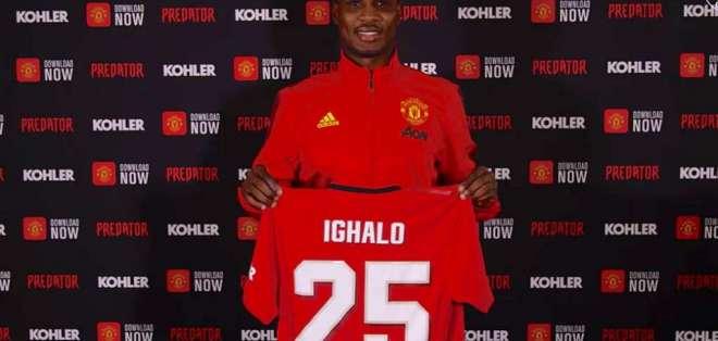 Odion Ighalo, jugador del Manchester United.