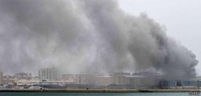 Generador de central de energía eléctrica de Waterport se incendió debido a una explosión.