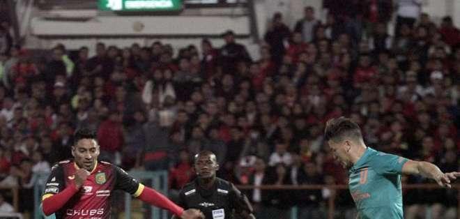 El encuentro se disputó en el estadio Alejandro Serrano Aguilar. Foto: Tomada de @LigaProEC