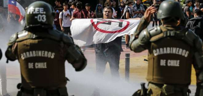 Protestas en Chile. Foto: AFP