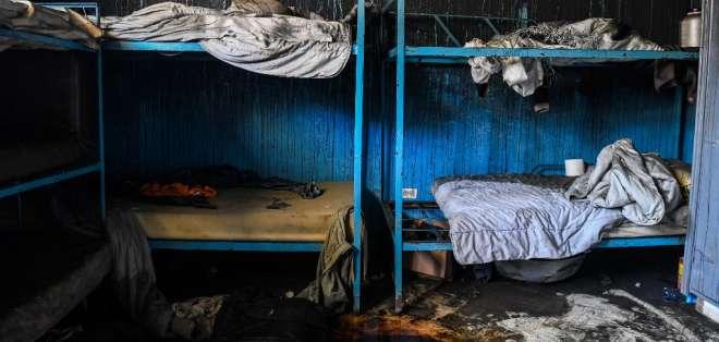 Incendio orfanato en Haití. Foto: AFP