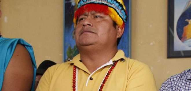 Jaime Vargas, presidente de la Confederación de Nacionalidades Indígenas del Ecuador. Foto: Archivo