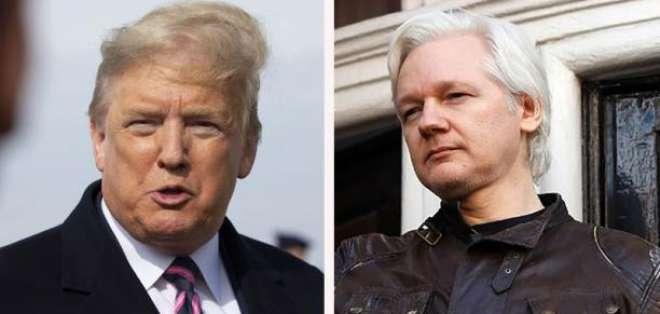Donald Trump y Julian Assange. Fotos: EFE y AFP