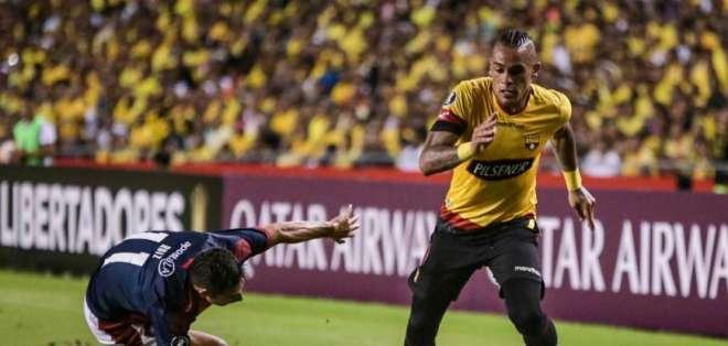 Jonatan Álvez durante el partido contra Cerro. FOTO: BarcelonaSC