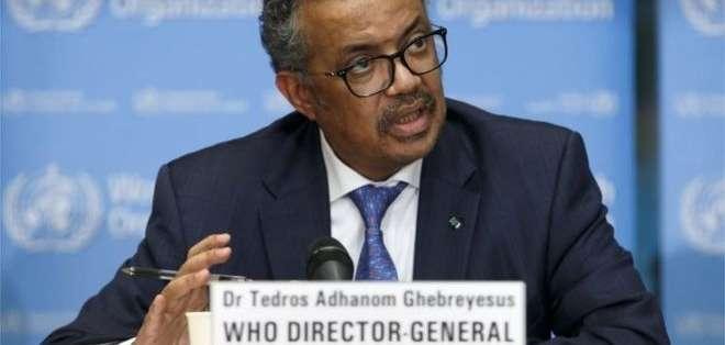 Tedros Adhanom Ghebreyesus instó a los países del mundo a reforzar sus acciones para evitar contagios.