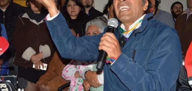 Yaku Pérez, prefecto de Azuay. Foto: API