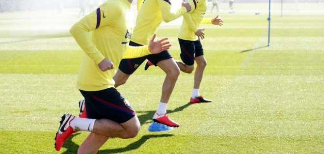 Entrenamiento del FC Barcelona. Foto: Barcelona.