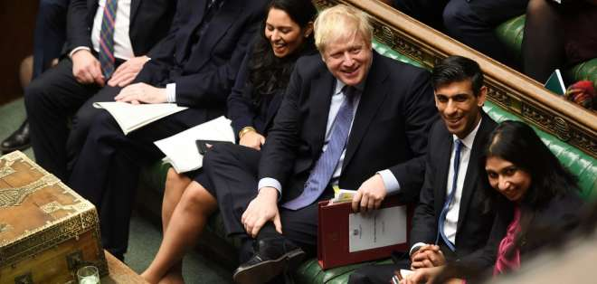 Boris Johnson se niega a ampliar el periodo de transición más allá de finales de 2020. Foto: AFP