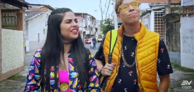 Emma Guerrero y Alex Vizuete interpretando a Ashley y Justin. Foto: Ecuavisa