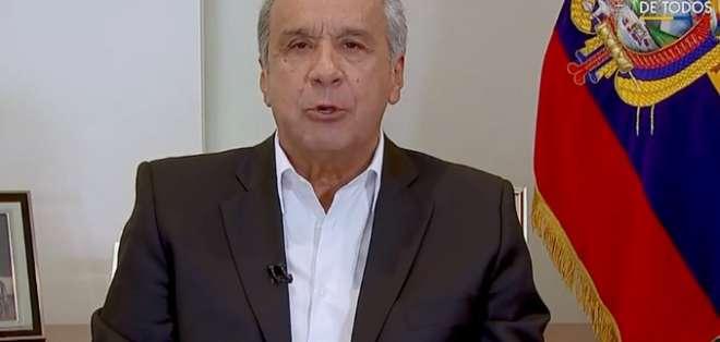 """Lenín Moreno anunció que firmó el decreto declarando a Guayas como """"zona especial de seguridad""""."""