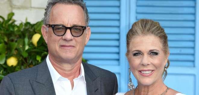Tom Hanks y su esposa dieron positivo para coronavirus. Foto: AFP - Archivo