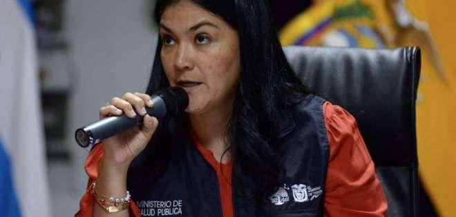 Catalina Andramuño, durante una rueda de prensa cuando era ministra de Salud. Foto: Archivo API