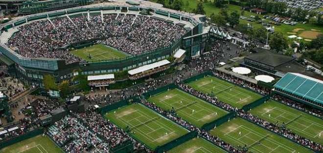 Canchas de Wimbledon. Foto: Twitter.