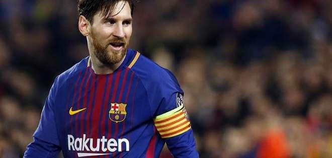 Lionel Messi, jugador del Barcelona. FOTO: AFP