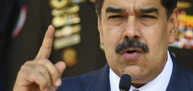 Nicolas Maduro, habla durante una conferencia de prensa el 12 de marzo. Foto: AP