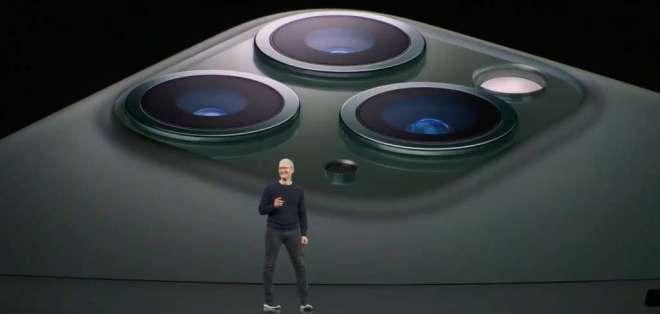 El CEO de Apple, Tim Cook, en la presentación del iPhone 11 Pro. Foto: Apple.