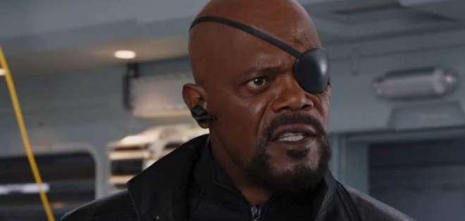 Samuel L. Jackson durante su interpretación de Nick Fury. Foto: Tomada de http://www.diarioeldia.cl/