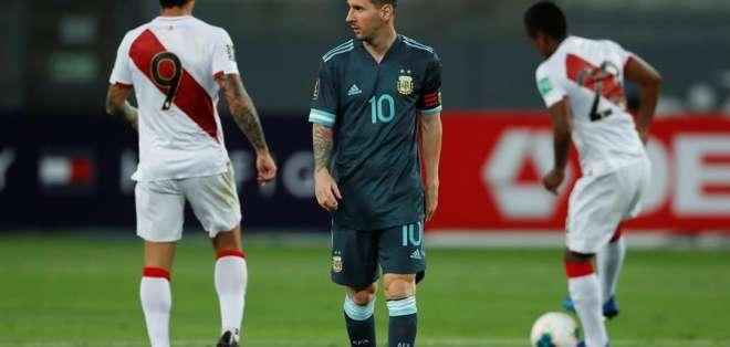 El argentino llegó a Barcelona este miércoles tras jugar con Argentina en Perú. Foto: EFE/ Daniel Apuy POOL