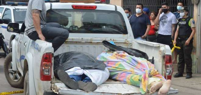 MACHALA.- Agentes policiales montaron un operativo en los alrededores del sector. Foto: Archivo