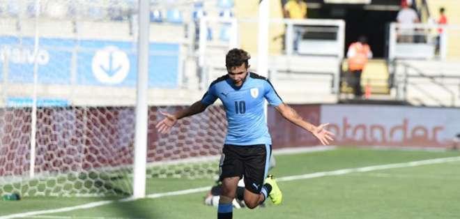 Futbolista festeja uno de los tantos contra Brasil. Foto: Twitter Conmebol