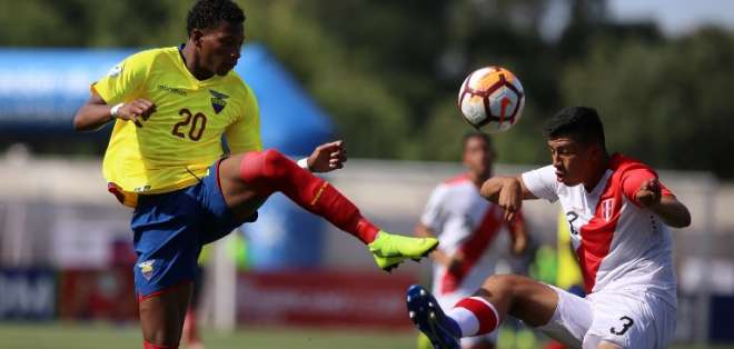 Gonzalo Plata, jugador de la selección Sub 20 de Ecuador.