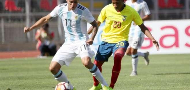 Gonzalo Plata en el Sudamericano Sub-20.