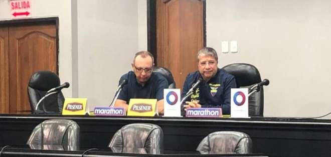 El entrenador de la selección ecuatoriana habló en rueda de prensa tras la derrota. Foto: Archivo