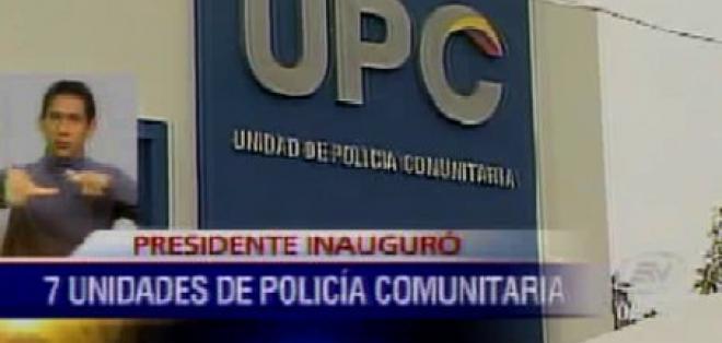 Presidente Correa inauguró siete UPC en Guayaquil