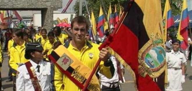 De Cesare orgulloso de ser el abanderado de Ecuador para Olímpicos
