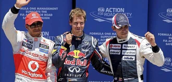 Vettel saldrá primero en el circuito de Valencia