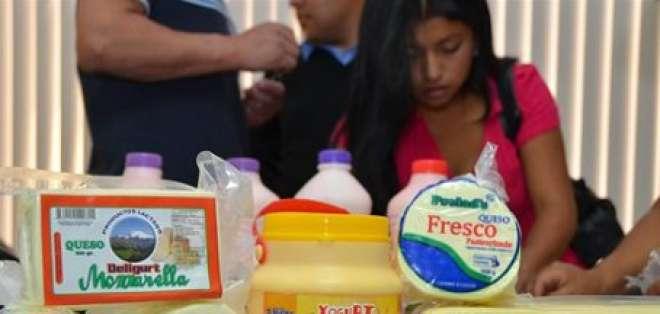 Ecuador casi ha doblado sus exportaciones de productos lácteos