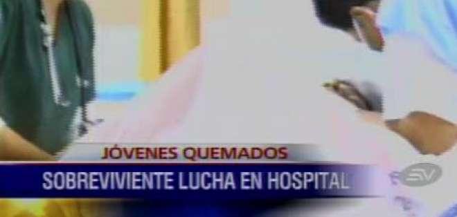 Joven quemado en Quito se mantiene en terapia intensiva
