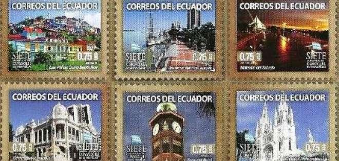Guayaquil y sus siete maravillas plasmadas en sellos postales