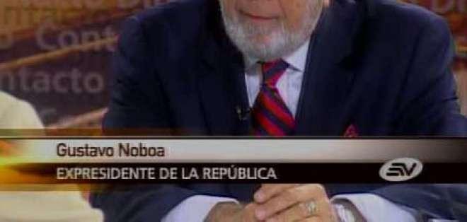 Noboa: El problema de Mahuad fue que sufrió una debacle moral