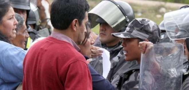 Incidentes y enfrentamientos por construcción de cárcel en Azuay