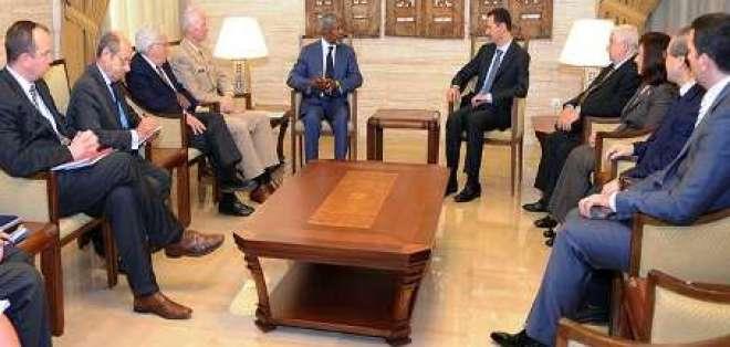 Annan y Al Asad llegan a un acuerdo para acabar con violencia en Siria