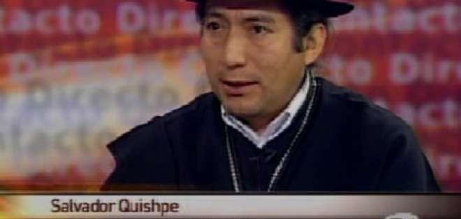 Quishpe dice que es víctima del espionaje del Gobierno