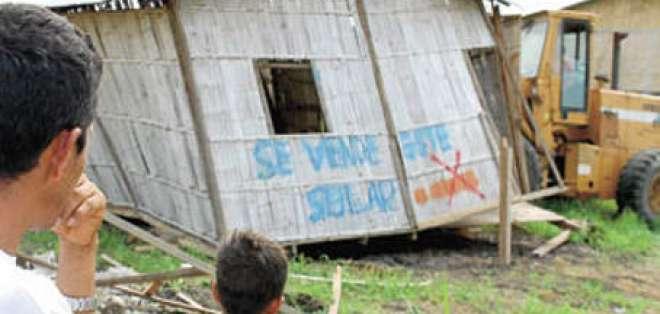 Viviendas destruidas en operativos de desalojo para frenar invasiones