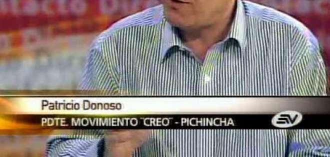 Donoso: Correa y Lasso deben ser juzgados de igual forma por el CNE
