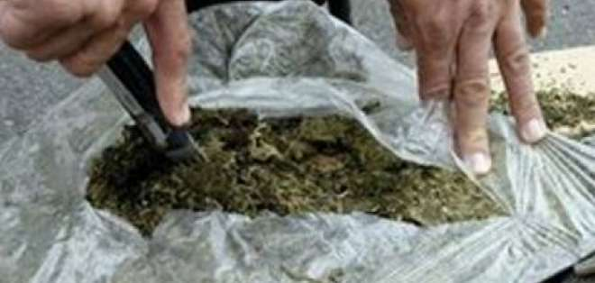 100 kilos de marihuana fueron decomisados en Machachi