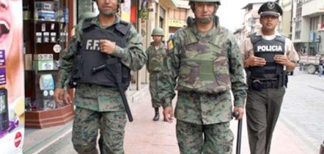 Los militares saldrán nuevamente a patrullar las calles