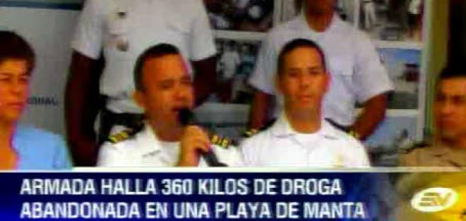 Cerca de 360 kilos de cocaína fueron encontrados en Manabí