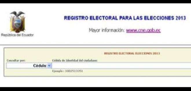Ya se puede consultar cambio de comicilio electoral para elecciones 2013