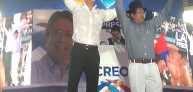 Auki Tituaña es el compañero de fórmula de Guillermo Lasso
