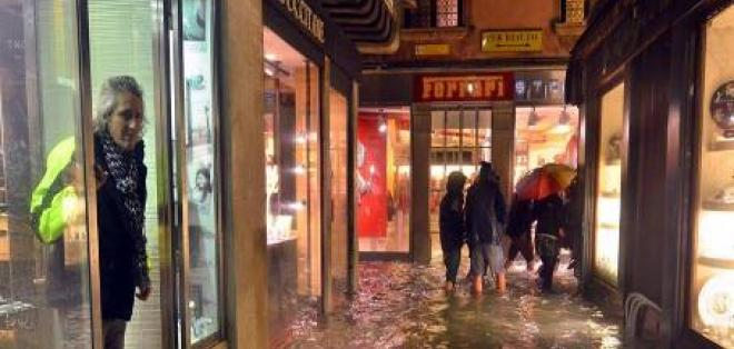 Más de la mitad de Venecia inundada